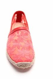 French Sole Coral Mesh Slip Ons - Front full body