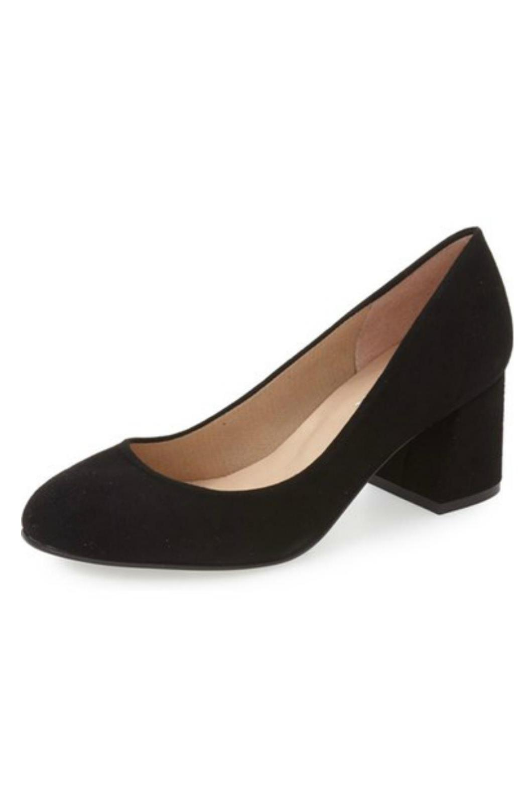 French Sole Trance Block Heel Pump from