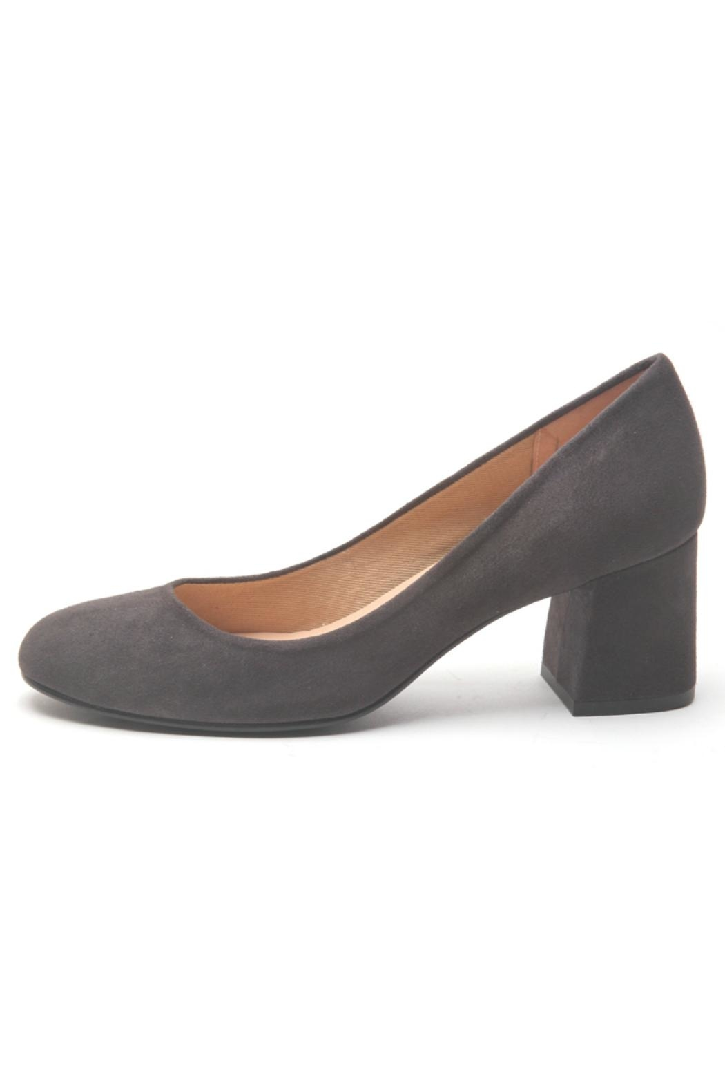 French Sole Trance Suede Pump - Front Cropped Image