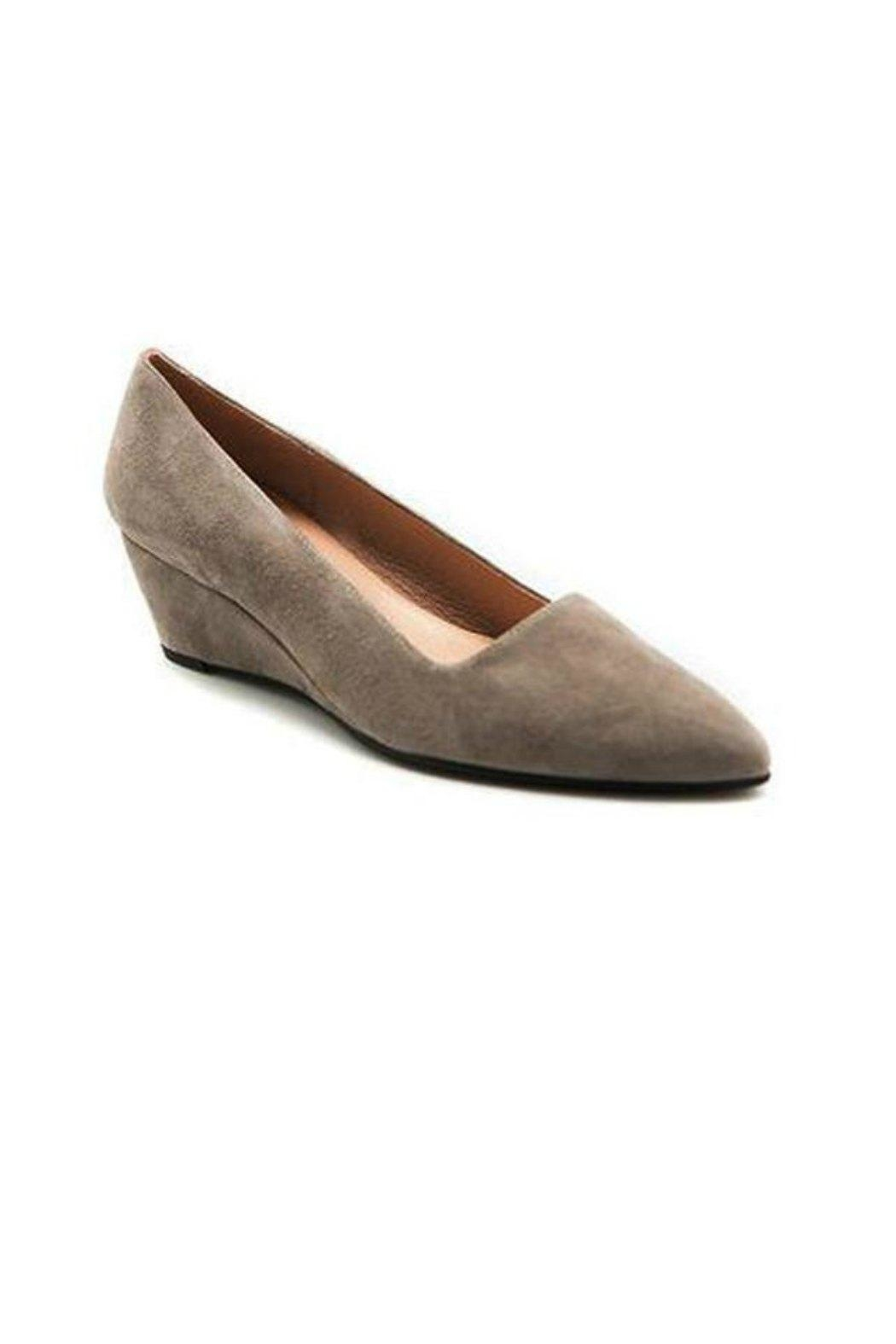 French Sole FS/NY Clap Suede Wedge - Front Full Image