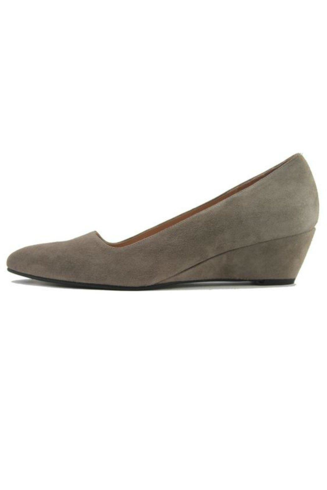 French Sole FS/NY Clap Suede Wedge - Front Cropped Image