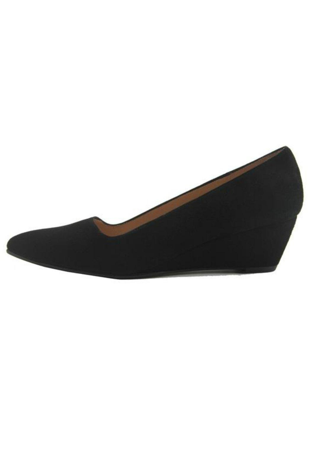 French Sole FS/NY Clap Suede Wedge - Main Image