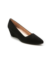 French Sole FS/NY Clap Suede Wedge - Back cropped