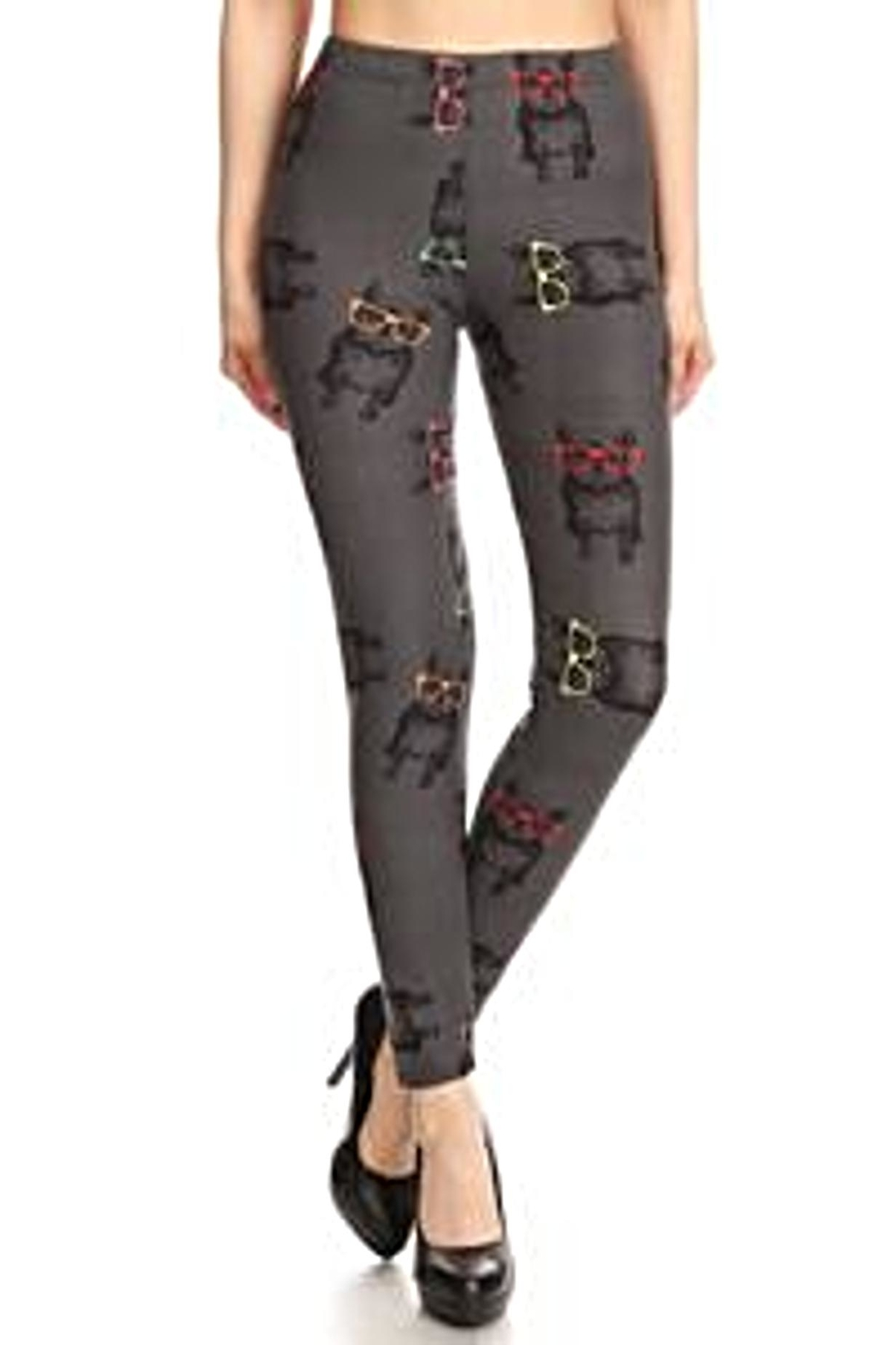 Love It Frenchies Puppy Leggings - Front Full Image