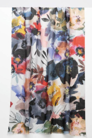 Kinross Cashmere FRESH POSIES PRINT SCARF - Product Mini Image