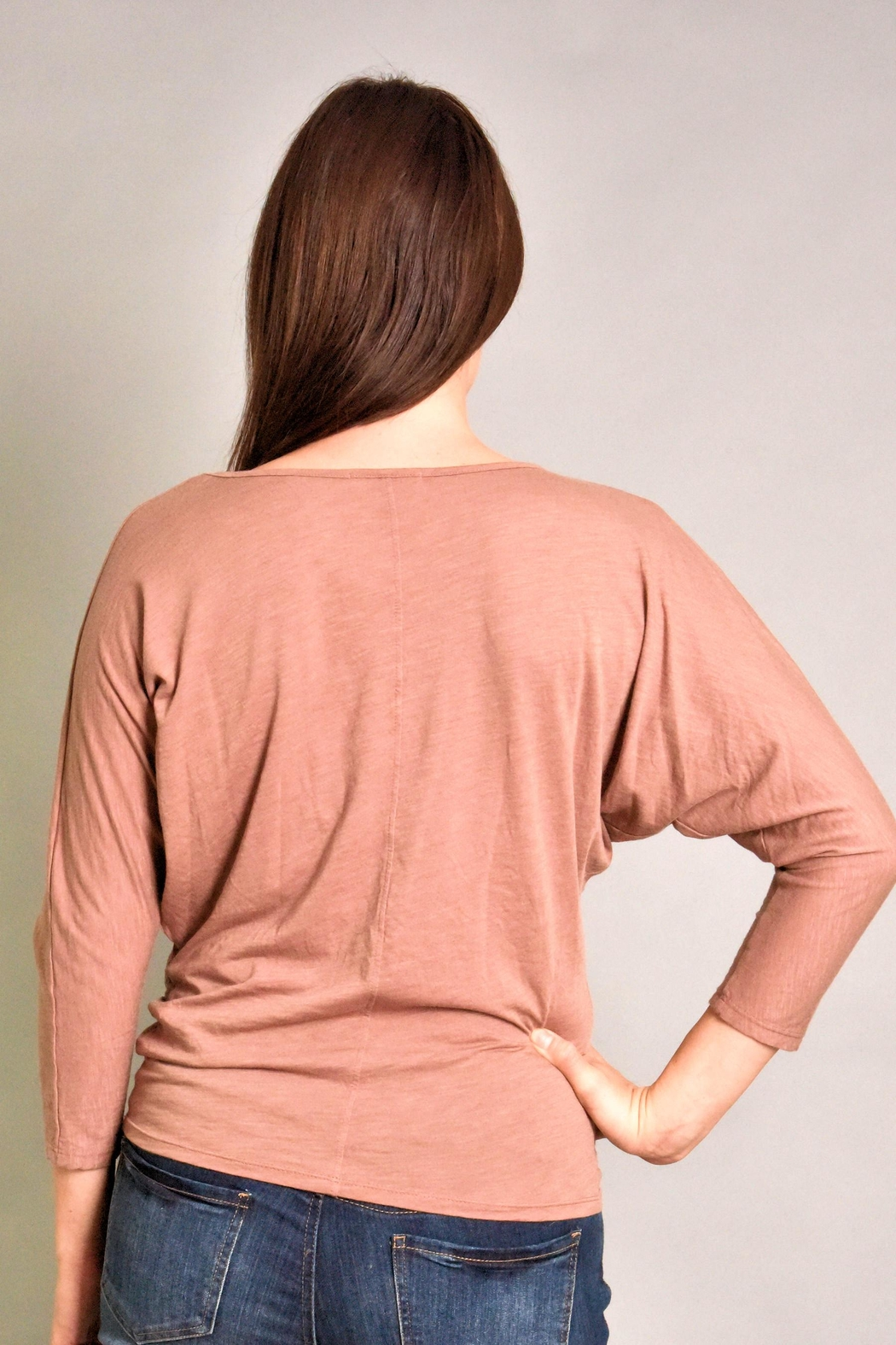 Fresh Laundry Dolman Ruched Top - Side Cropped Image