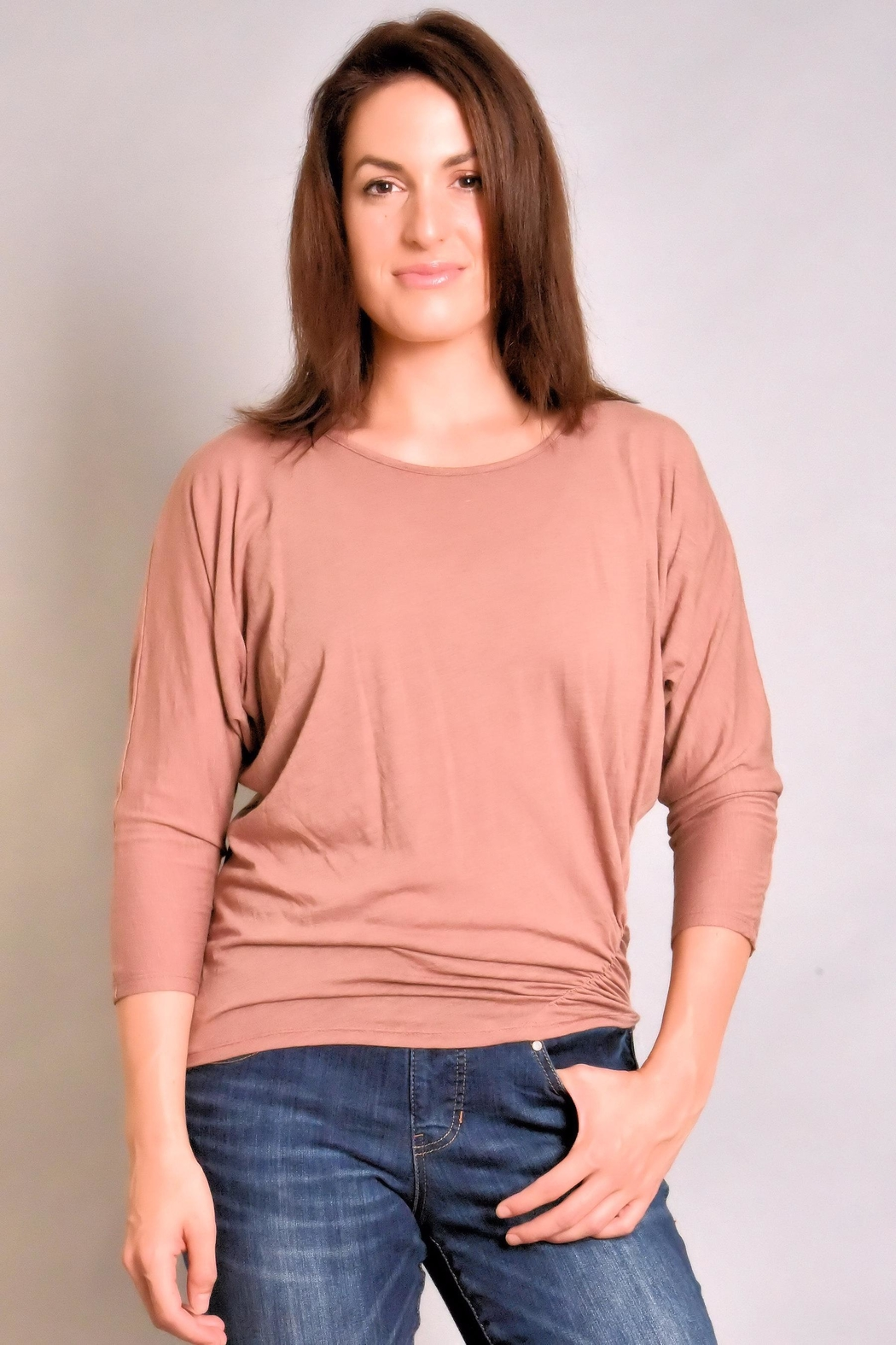 Fresh Laundry Dolman Ruched Top - Main Image