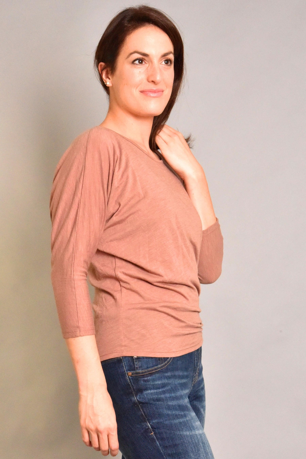 Fresh Laundry Dolman Ruched Top - Front Full Image