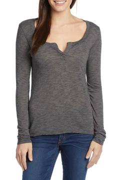 Shoptiques Product: Striped Henley Top