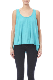 Fresh Laundry Turquoise Flow Tank - Side cropped