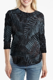 Fresh Produce Black Tropical Top - Front cropped