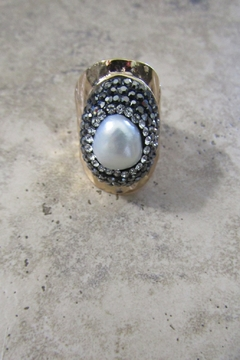 Ole' FRESHWATER PEARL CRYSTAL CUFF RING - Product List Image