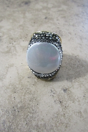 Ole' FRESHWATER PEARL CRYSTAL CUFF RING - Product Mini Image