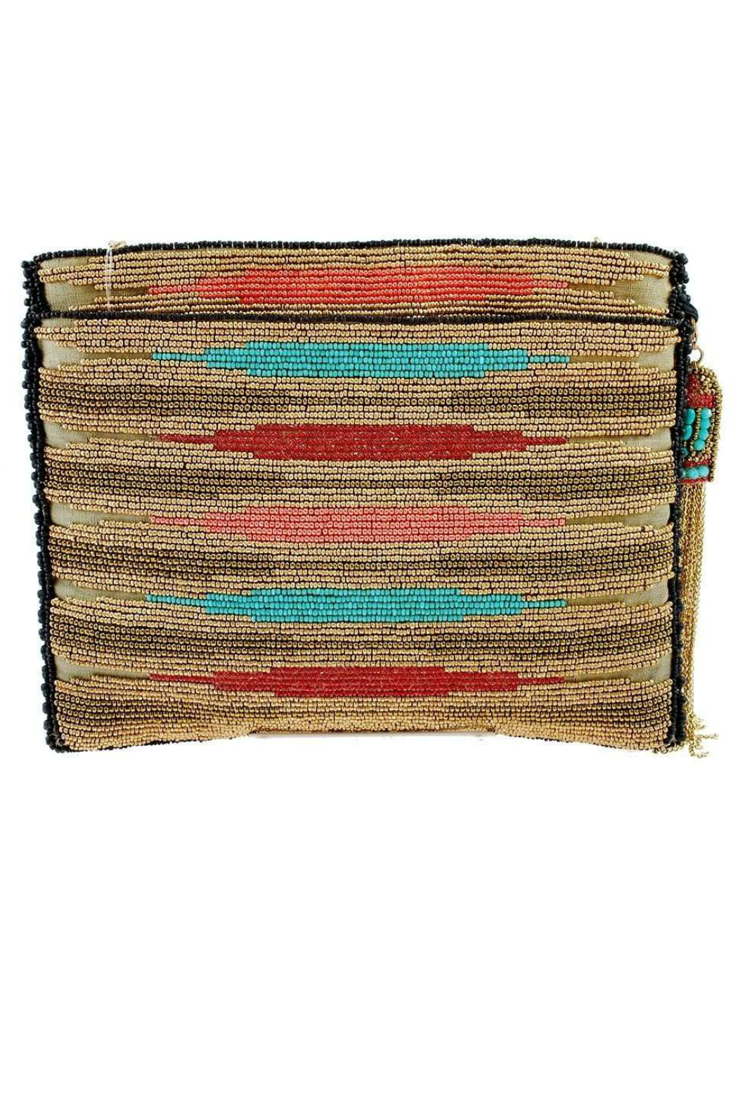 Mary Frances  Frida Beaded-Embroidered Crossbody Clutch Handbag - Front Full Image