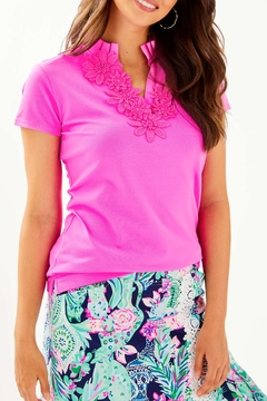 Lilly Pulitzer  Frida Flower Polo Luxletic UPF 50+ - Product List Image