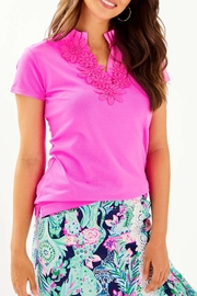 Lilly Pulitzer  Frida Flower Polo Luxletic UPF 50+ - Product Mini Image