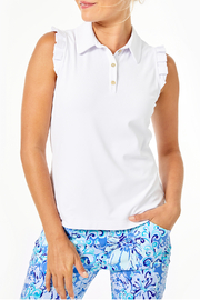 Lilly Pulitzer  Frida Sleeveless Ruffle Polo - Product Mini Image