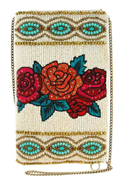 Mary Frances  Fridas FLowers Cellphone Bag - Product Mini Image