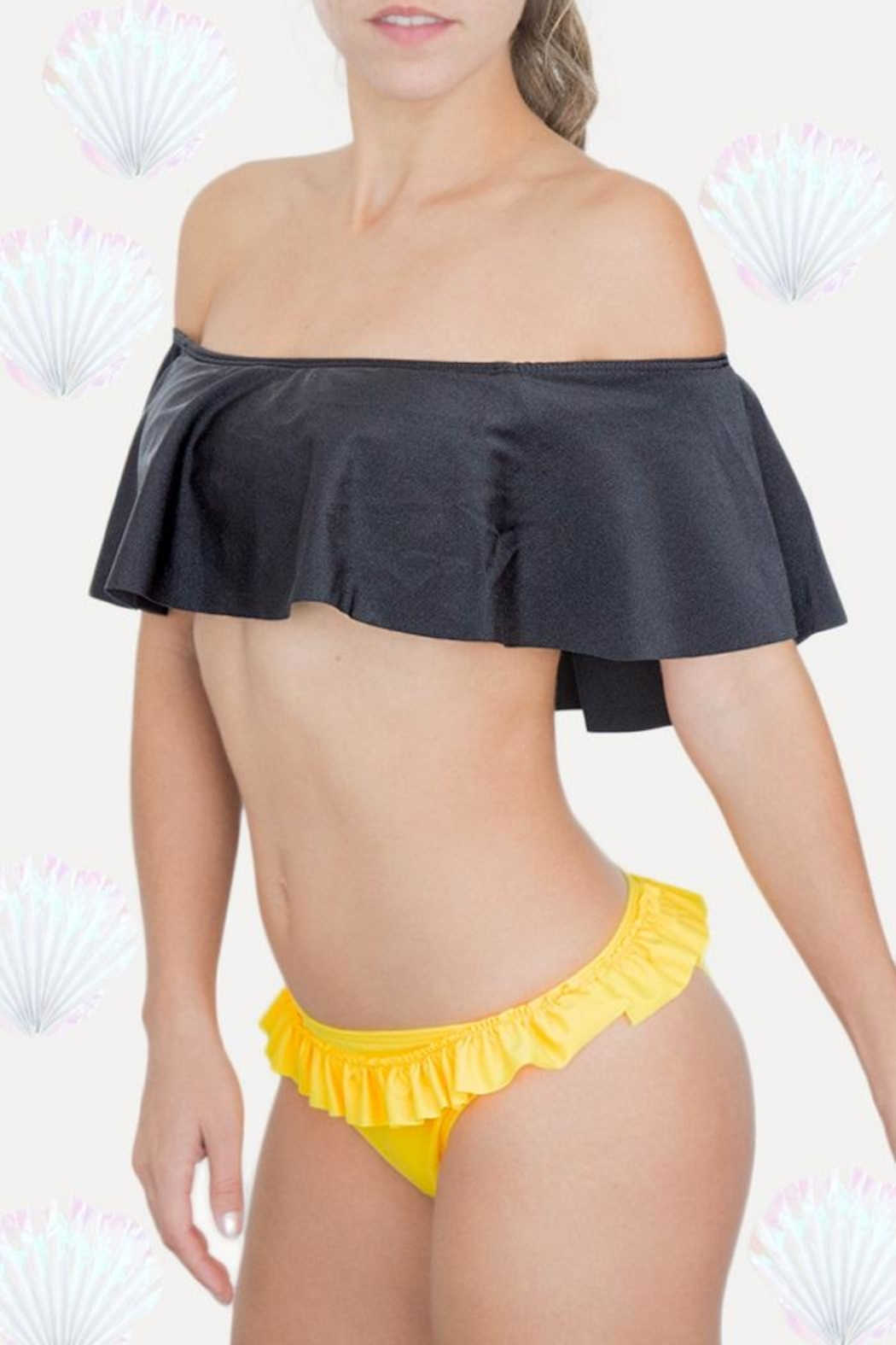 Fridasch swimwear Black-And-Yellow Set - Main Image