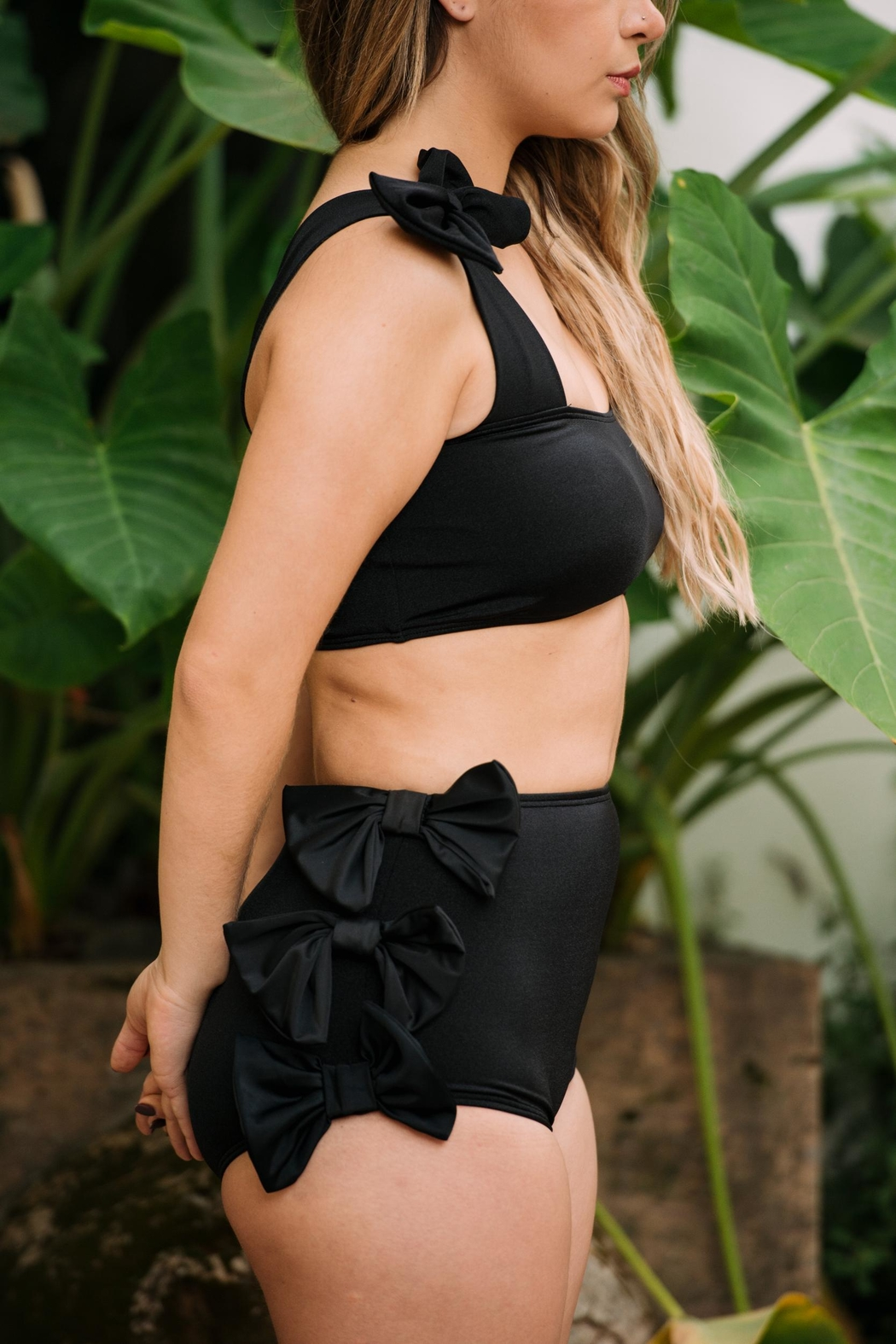 Fridasch swimwear Black Bow Set - Side Cropped Image