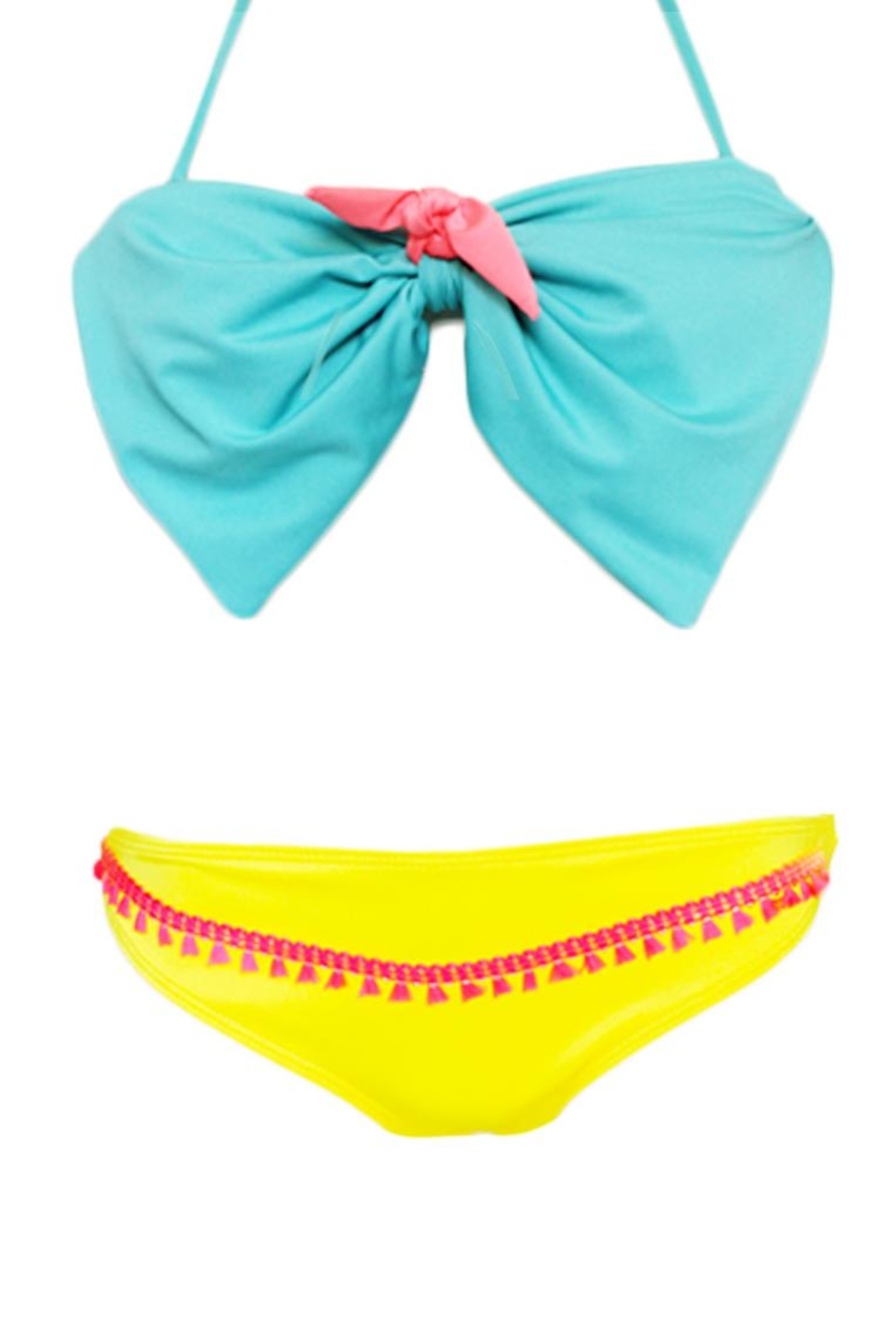 Fridasch swimwear Bow Blue Yellow - Side Cropped Image