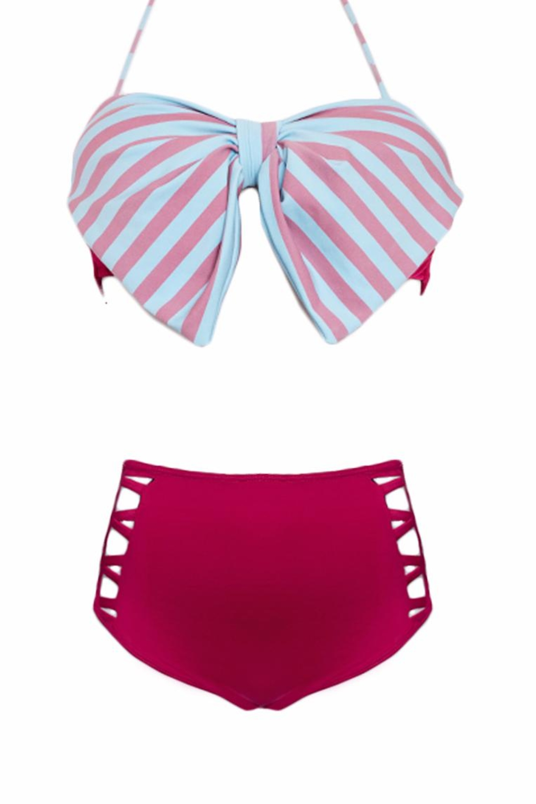 Fridasch swimwear Bow Strip Two Piece - Front Full Image