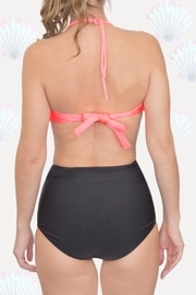 Fridasch swimwear Coral Black Bikini-Set - Front full body
