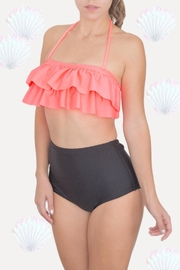Fridasch swimwear Coral Black Bikini-Set - Side cropped