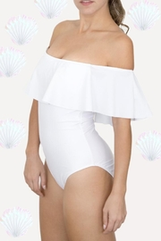 Fridasch swimwear Off-Shoulder White Swimsuit - Front cropped