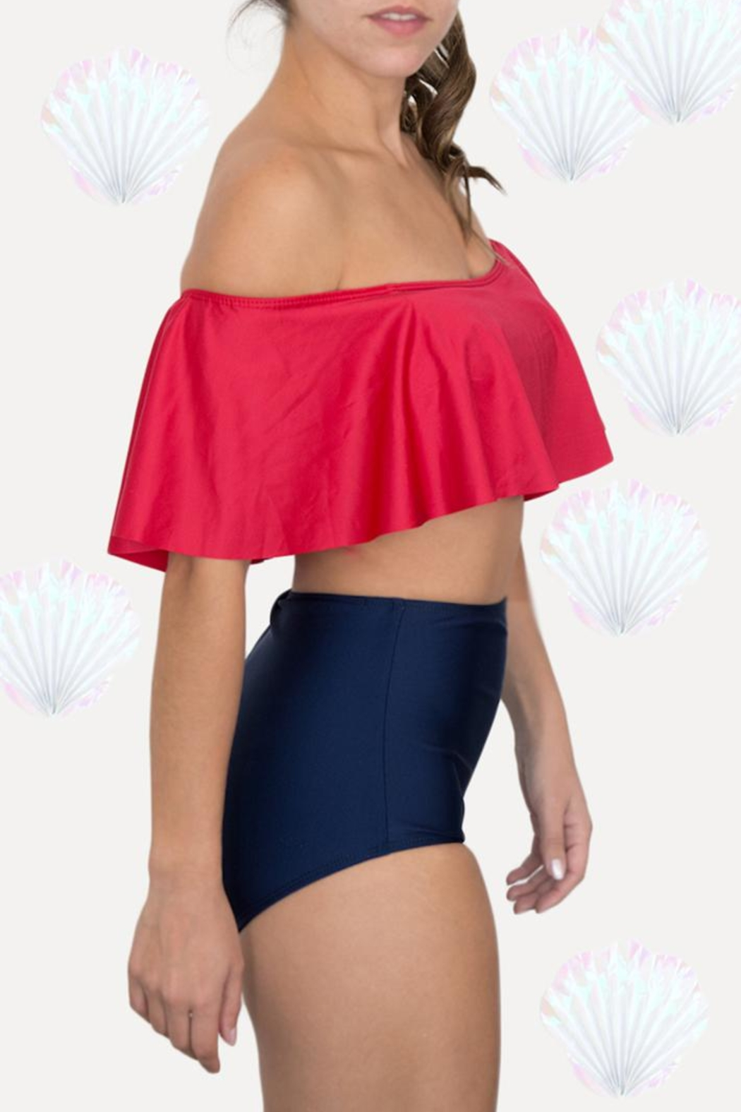 Fridasch swimwear Sailor Red Blue - Front Cropped Image