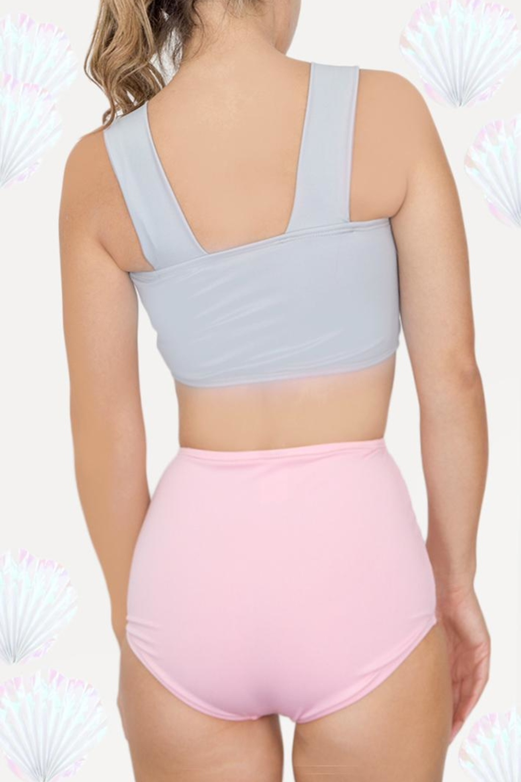Fridasch swimwear Sweet Pink Gray - Front Full Image