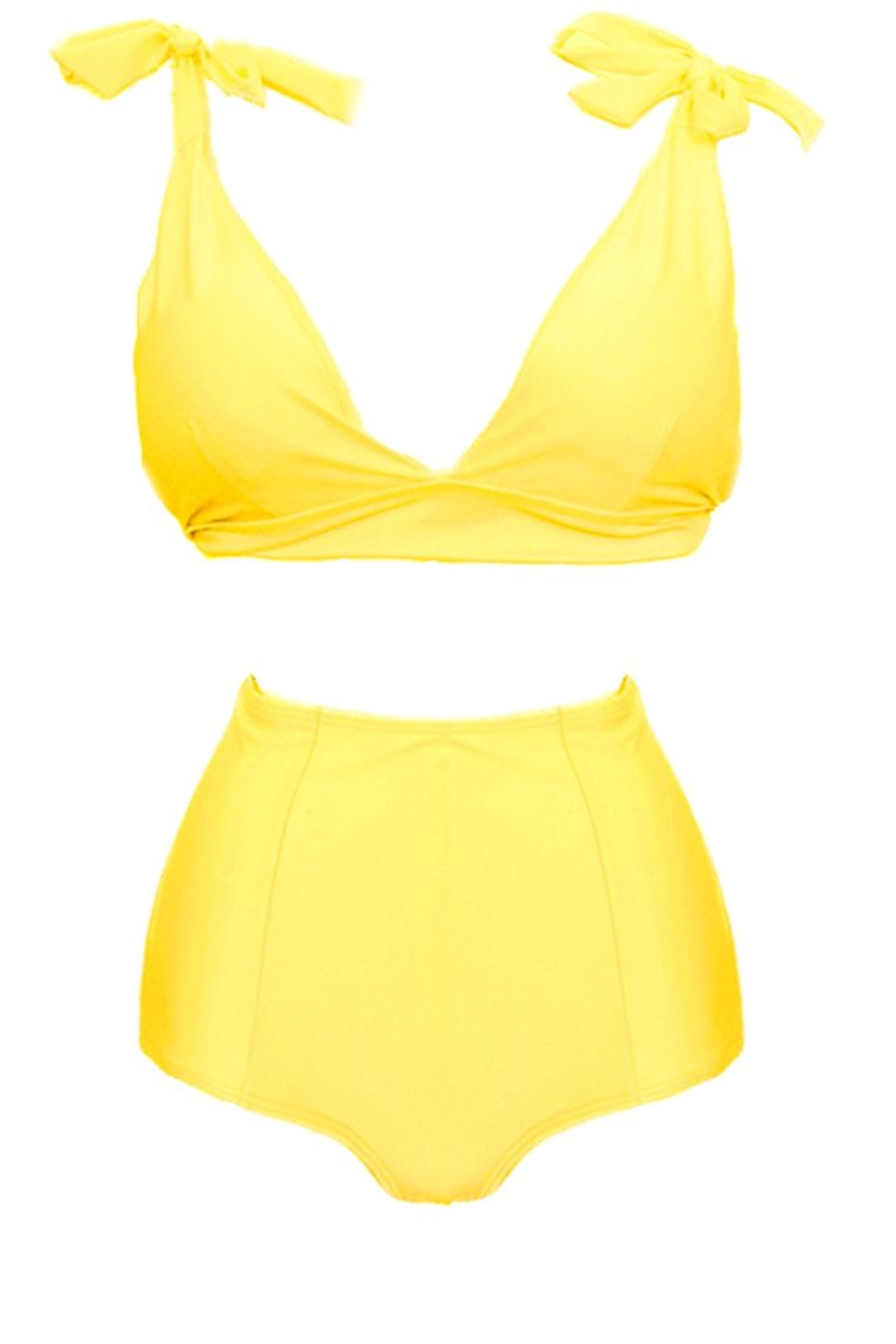Fridasch swimwear Vintage High-Waisted Yellow - Side Cropped Image
