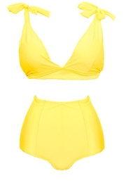 Fridasch swimwear Vintage High-Waisted Yellow - Side cropped