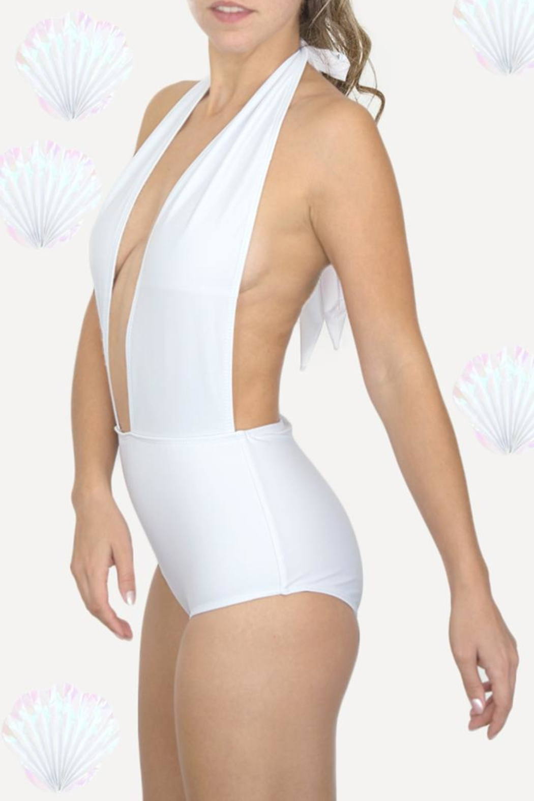 Fridasch swimwear White One-Piece Suit - Front Cropped Image
