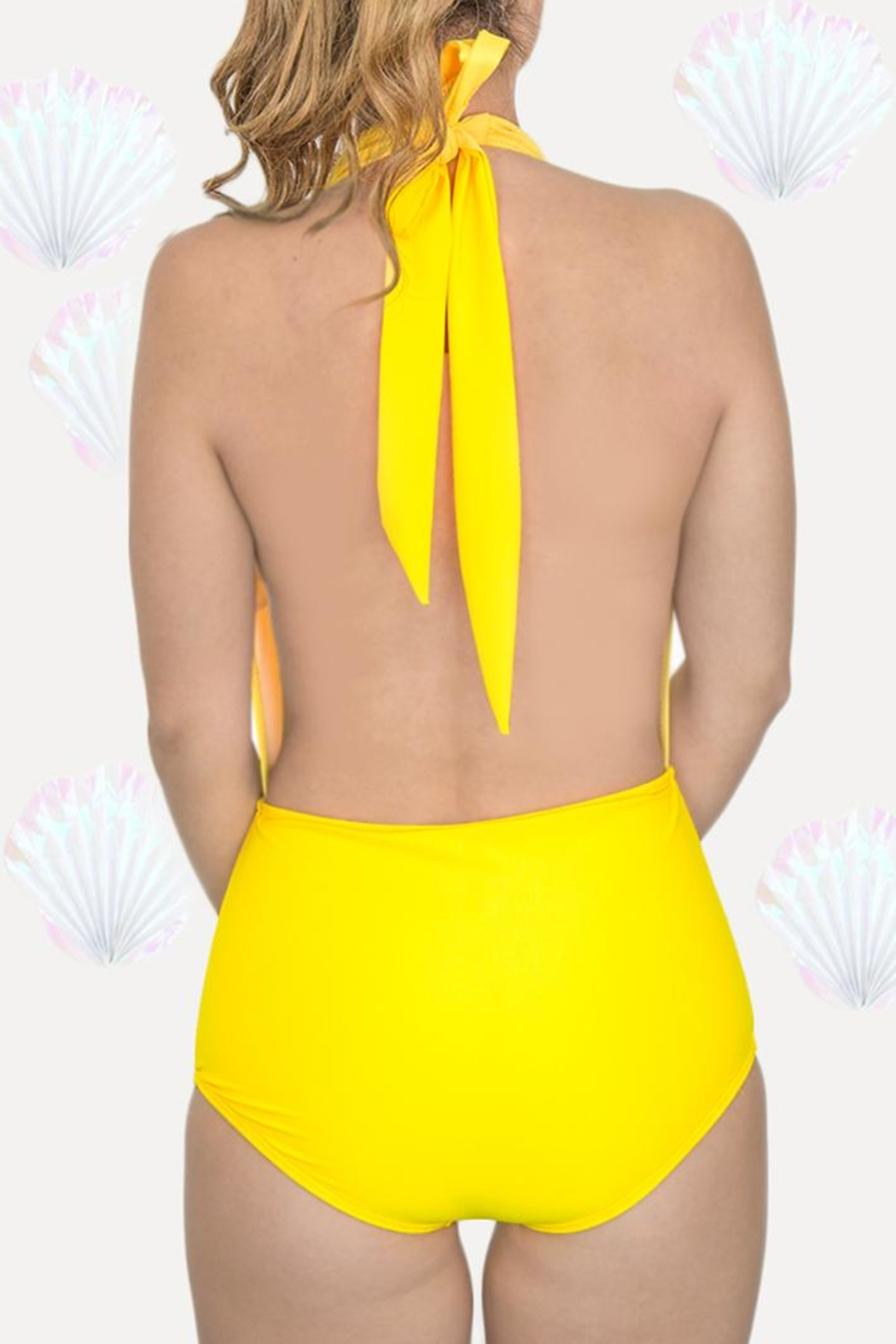 Fridasch swimwear Yellow One-Piece Swimsuit - Side Cropped Image