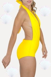 Fridasch swimwear Yellow One-Piece Swimsuit - Front full body