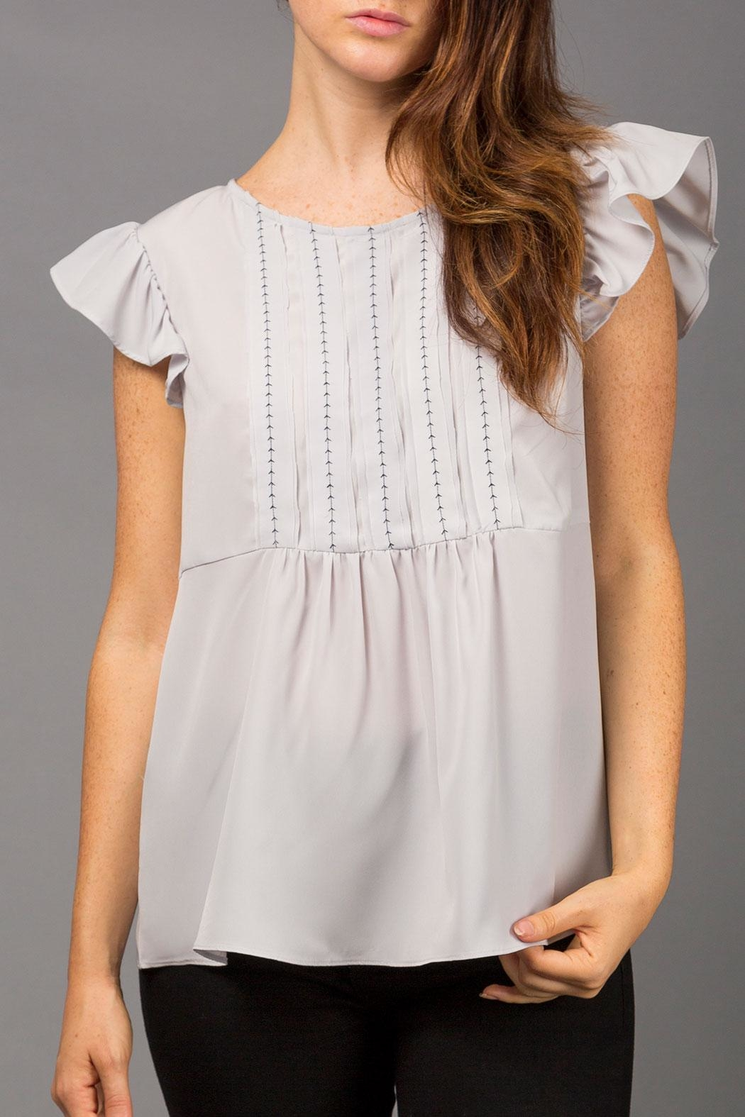 WREN & WILLA Frill-Sleeve Peasant Top - Main Image