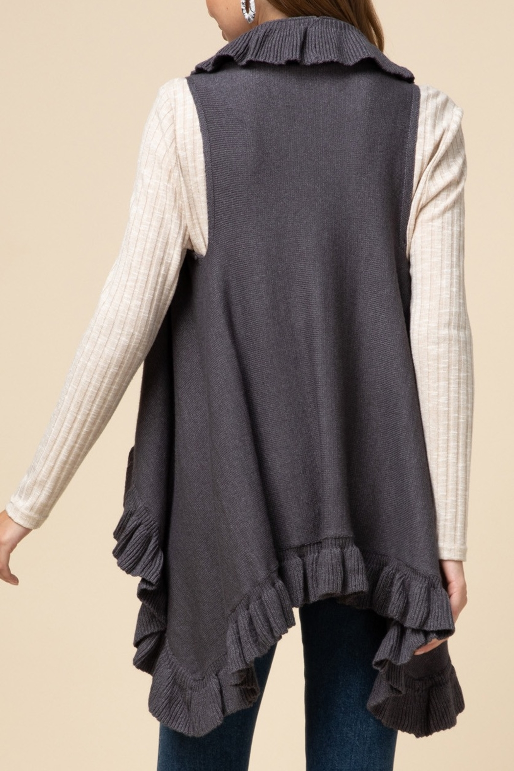 Entro  Frilly For Fall Vest - Front Full Image