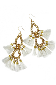 Fabulina Designs Fringe Benefits Chandelier Earrings - Product List Image