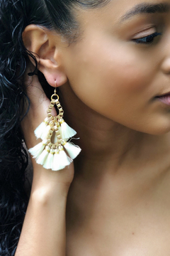 Fabulina Designs Fringe Benefits Chandelier Earrings - Alternate List Image