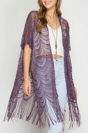 She + Sky Fringe Bottom Cardigan - Product Mini Image