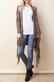 Classic Trendz Boutique Fringe Crochet Cardigan - Product Mini Image