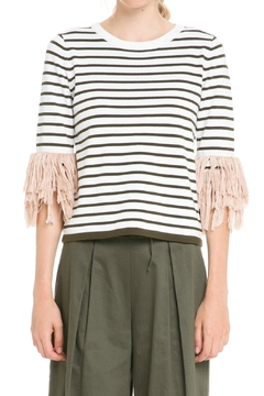English Factory Fringe Cuff Top - Product List Image
