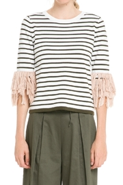 English Factory Fringe Cuff Top - Product Mini Image
