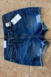 Judy Blue Fringe Cutoff Distressed Shorts - Front cropped