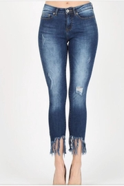 Muse Apparel Fringe Denim Jeans - Front cropped