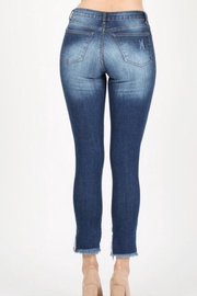 Muse Apparel Fringe Denim Jeans - Front full body