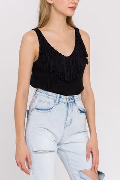 La Ven Fringe Detail Knit Tank - Product List Image