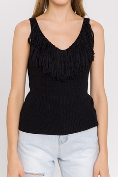 La Ven Fringe Detail Knit Tank - Alternate List Image
