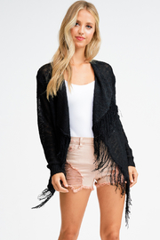 MONTREZ FRINGE DETAIL OPEN CARDIGAN - Product Mini Image